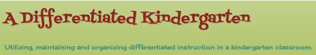 Differentiated Kindergarten banner