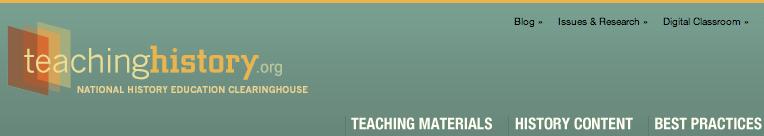 Teaching History site banner