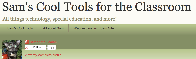 Sams Cool Tools for Classroom banner