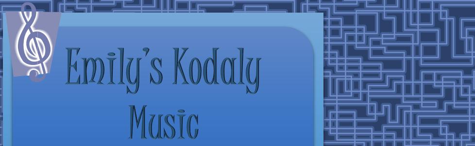 Emilys Kodaly Music banner