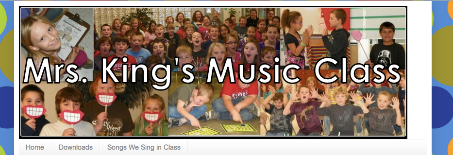 Mrs Kings Music Class banner