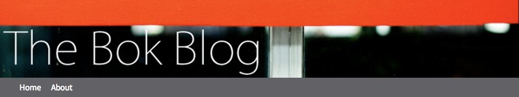 Bok Blog banner