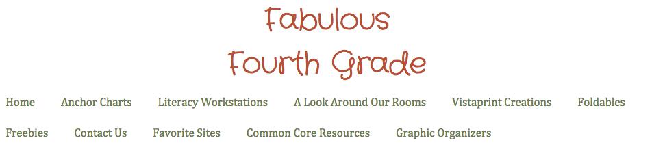 Fabulous Fourth Grade banner