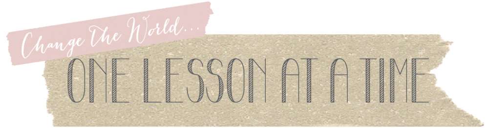 One Lesson at a Time banner