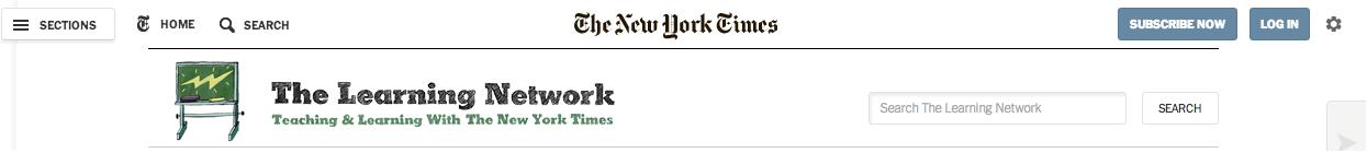 New York Times banner