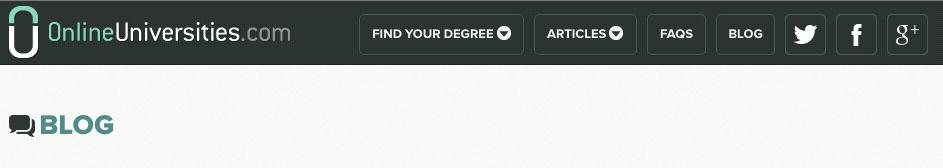 Online Universities banner