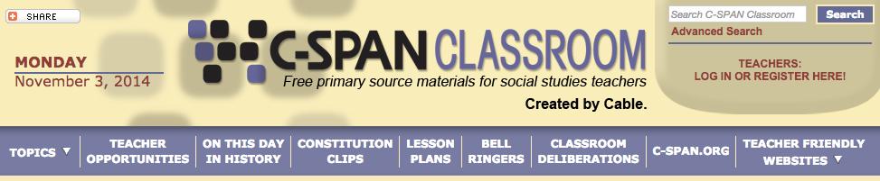 CSPAN Classroom banner