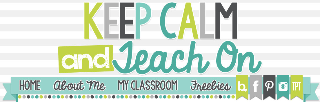 Keep Calm and Teach On banner