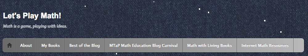 Lets Play Math banner