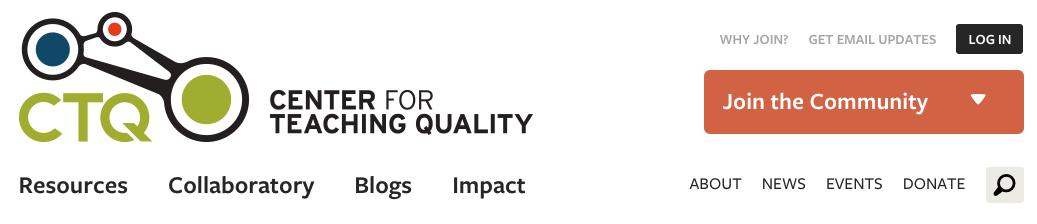 Center for Teaching Quality banner