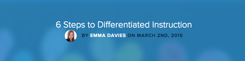 6 Steps to Differentiated Instruction banner