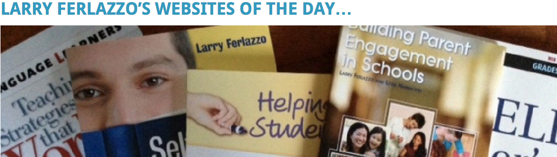 Larry Ferlazzos site of the day banner